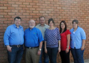Dan Custis, CEO, visits the newest ABM™ facility in Lichtenburg South Africa. He's pictured with Brad Custis, ABM™ International sales representative, Dr. Ronel Hendriks, Josey Hendriks, Yolandi Lombard and Theresa Dreyer